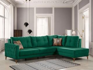 Corner Sofa Dark Green