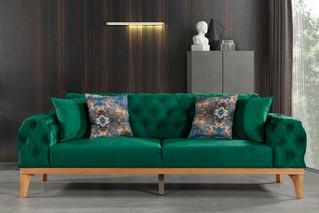 Single Sofa Dark Green